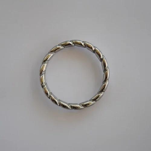 טבעת כסף גדולה