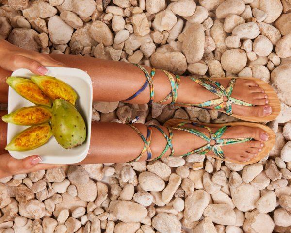 סנדל קיץ עם שרוכים ארוכים – ג׳ונגל